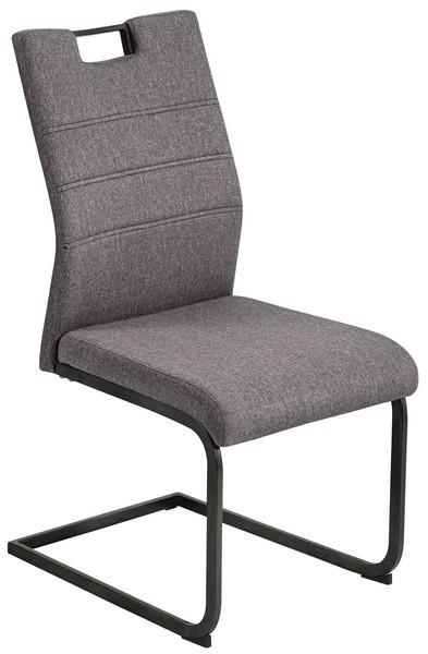 Jídelní židle Calli, šedá látka