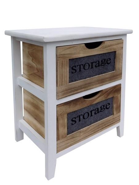 Regál se 2 zásuvkami Storage