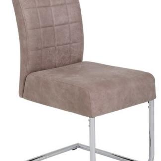 Jídelní židle Denise 2, béžová vintage optika kůže