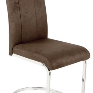 Jídelní židle Fabienne, tmavě hnědá látka