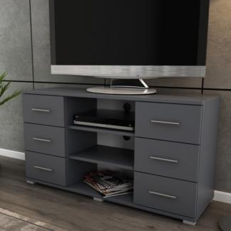 Vysoký TV stolek Oskar TV, grafitový, výška 65 cm
