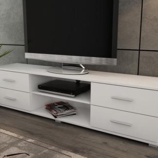 Široký TV stolek Oskar TV, bílý, šířka 180 cm