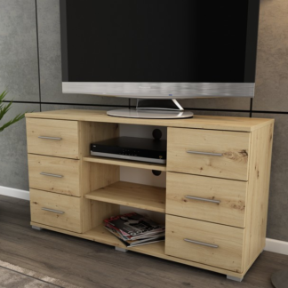 Vysoký TV stolek Oskar TV, dub artisan, výška 65 cm