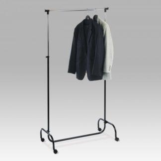 Stojan na šaty, v. 190 cm, chrom / černá EP94741 Autronic