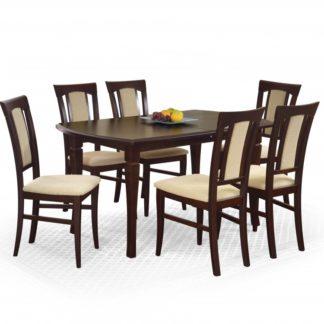Jídelní stůl rozkládací FRYDERYK 160/240 cm tmavý ořech Halmar
