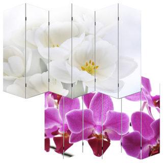 Designový paravan WH orchidei 240x180 cm (6-dílný)