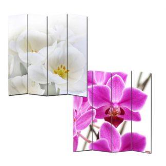 Designový paravan WH orchidei 160x180 cm (4-dílný)
