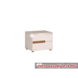 Noční stolek LYNATET TYP 96 bílý extra vysoký lesk Tempo Kondela