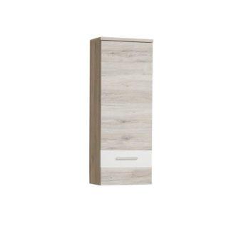 Závěsná skříňka VALERIA dub pískový / bílá Tempo Kondela