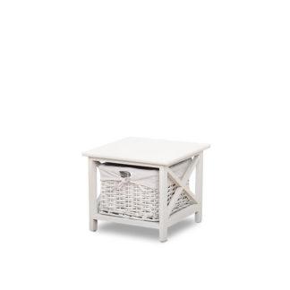 Noční stolek s košíkem RAFAELLO bílá Tempo Kondela