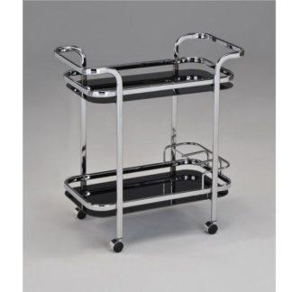 Servírovací stolek ELON černá / chrom Tempo Kondela