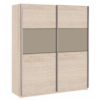 Šatní skříň s posuvnými dveřmi GRAPHIC dub arizona / šedá Tempo Kondela