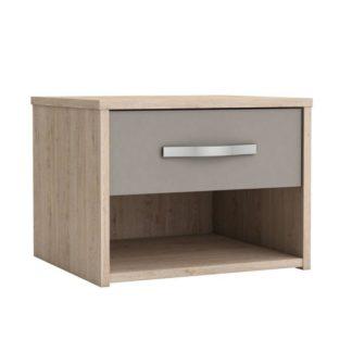 Noční stolek GRAPHIC dub arizona / šedá Tempo Kondela