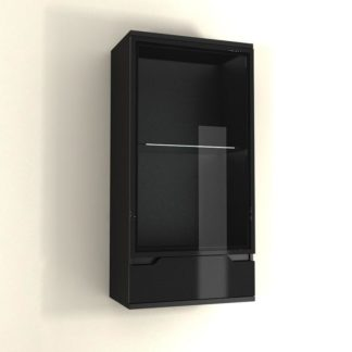 Závěsná vitrína ADONIS AS 08 černý lesk Tempo Kondela