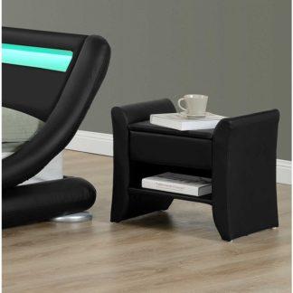 Noční stolek BOLTON černá Tempo Kondela