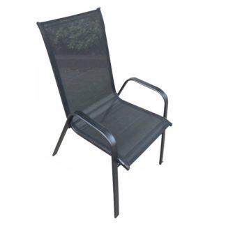 Židle, stohovatelná, tmavě šedá/černá, ALDERA 0000194792 Tempo Kondela