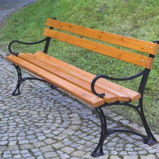 Parková lavice s područkami - FSC ROJAPLAST