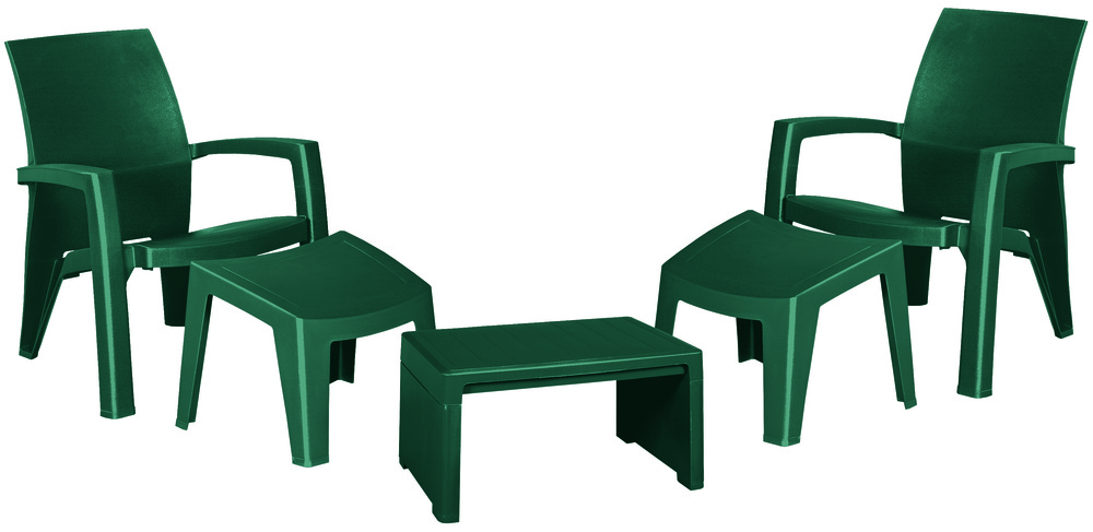 LAGO MAXI RELAX SET BOX - zelený Allibert