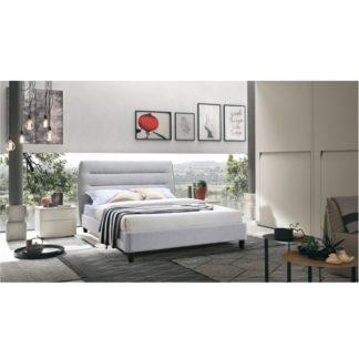 Manželská postel MAJESTIK šedý melír Tempo Kondela 160 x 200 cm