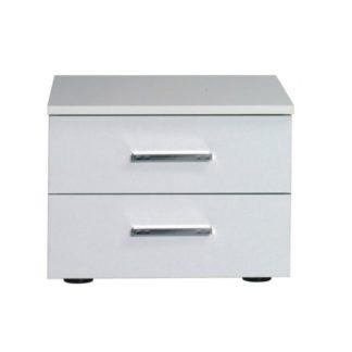 Noční stolek ASIENA 2 kusy bílá vysoký lesk Tempo Kondela