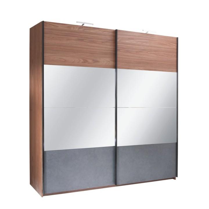 Šatní skříň REKATO 250 ořech / grafit Tempo Kondela
