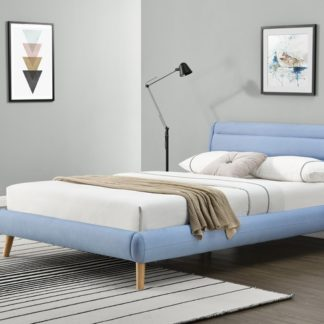 Postel ELANDA modrá Halmar 160 x 200 cm