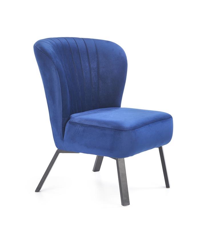 Křeslo LANISTER bordó / modrá Halmar Modrá