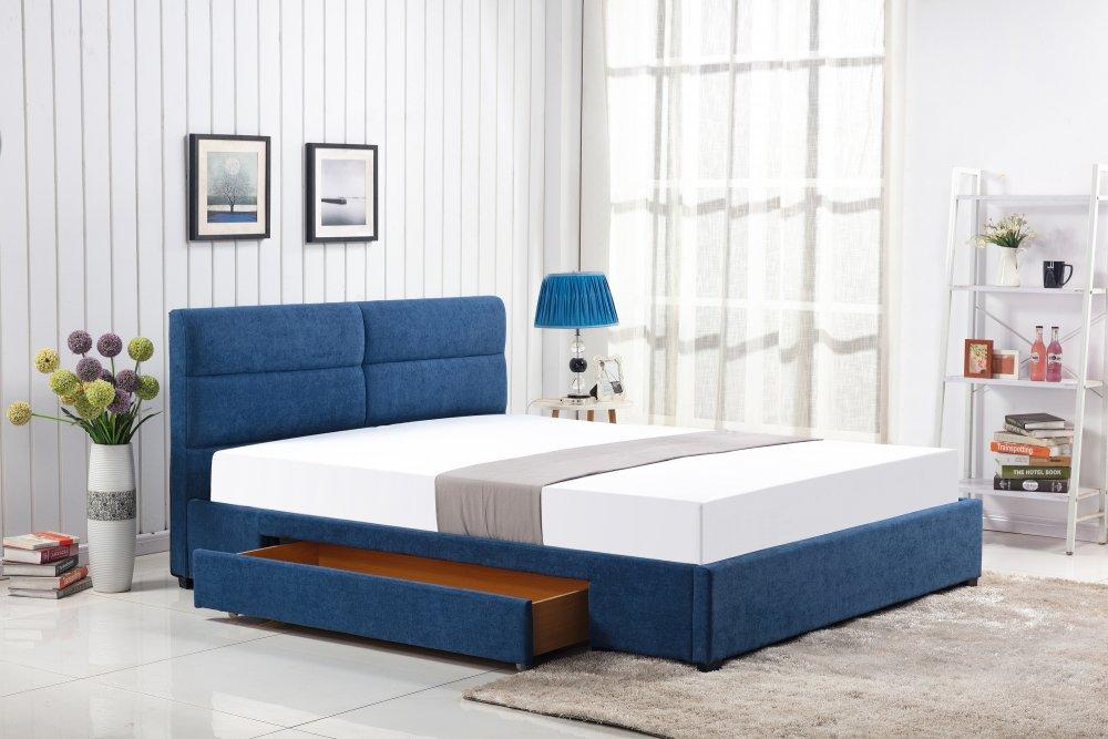 Postel MERIDA 160x200 modrá Halmar