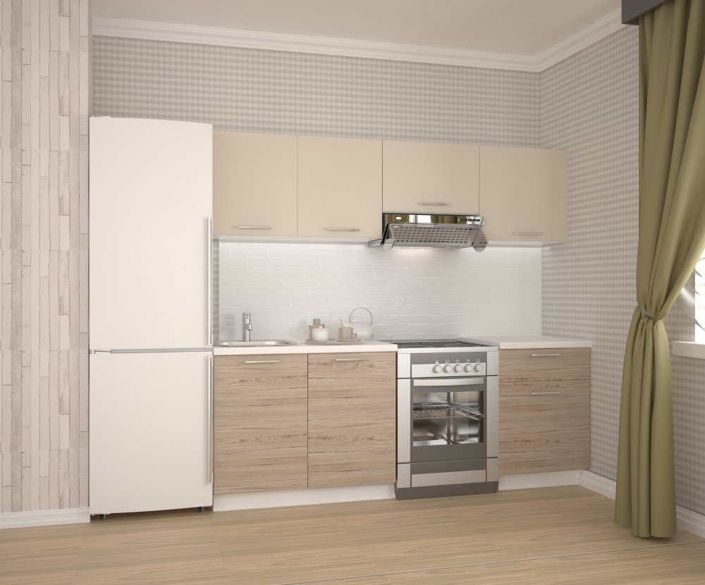Kuchyňská linka KATIA 220 béžová / dub san marino Halmar