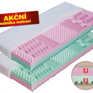Pěnová matrace Alice dvojí tvrdost + 1x polštář Lukáš ZDARMA Dřevočal 180 x 200 cm Lyocell