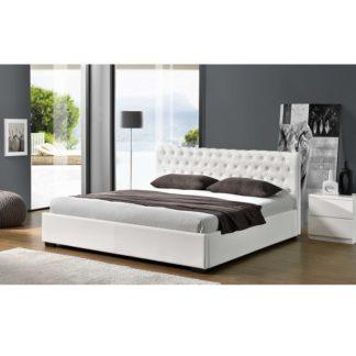 Manželská postel s úložným prostorem DORLEN NEW bílá Tempo Kondela 163 x 200 cm