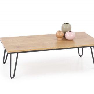 Konferenční stolek NILA dub zlatý / černá Halmar
