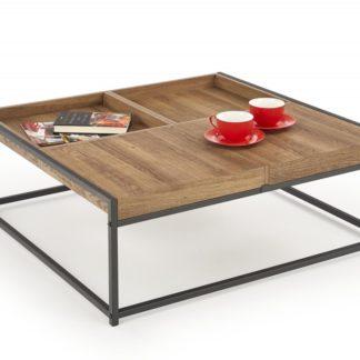 Konferenční stolek FREGATA ořech medový / černá Halmar