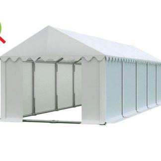 Skladový stan 4x10m bílá PREMIUM - nehořlavý