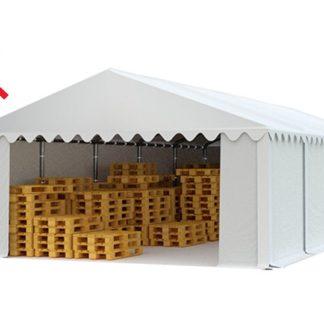 Skladový stan 6x10m bílá EKONOMY - nehořlavý