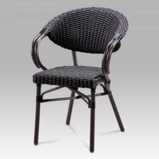 Zahradní židle AZC-130 BK hnědá / černá Autronic