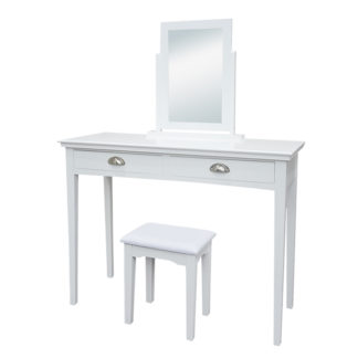 Toaletní stolek s taburetem RESINA bílá Tempo Kondela