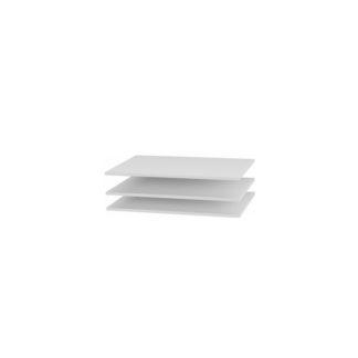 Police do skříně PIETRO 3 ks bílá Tempo Kondela