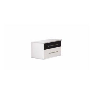 Noční stolek RUBLIN (2ks) bílá / černá Tempo Kondela