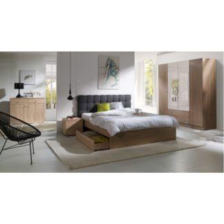 Manželská postel MEXIM dub sonoma / tmavě šedá Tempo Kondela 160 x 200 cm