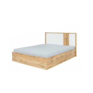 Postel s úložným prostorem 160x200 VODENA dub wotan / bílá Tempo Kondela