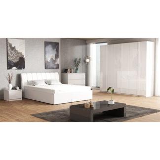 Ložnicová sestava ITALIA NEW bílá extra vysoký lesk Tempo Kondela