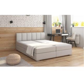 Boxpringová postel RIANA KOMFORT světle šedá Tempo Kondela 180 x 200 cm