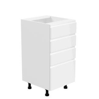 Spodní skříňka AURORA D40S4 Tempo Kondela Bílá