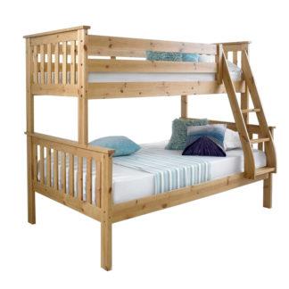 Patrová rozložitelná postel LUNI přírodní borovice Tempo Kondela