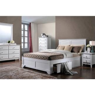 Manželská postel MACRO bílá Tempo Kondela 160 x 200 cm