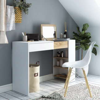Toaletní stolek ELIS bílá / dub sonoma Tempo Kondela