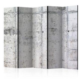 Paraván Concrete Wall Dekorhome 225x172 cm (5-dílný)