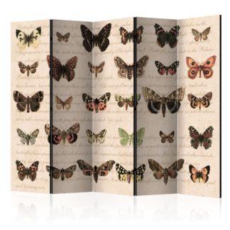 Paraván Retro Style: Butterflies Dekorhome 225x172 cm (5-dílný)