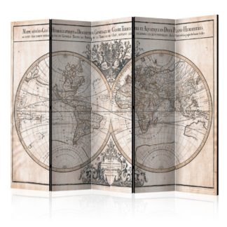 Paraván Mappe-Monde Geo-Hydrographique Dekorhome